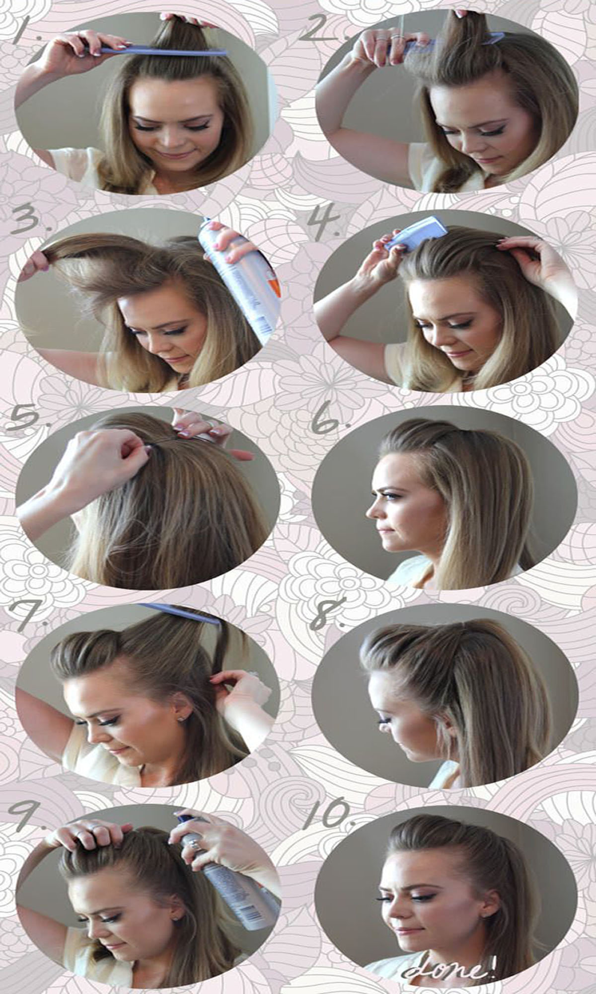 The Cutest Easiest Pompadour Hairstyle Tutorial Beststylo