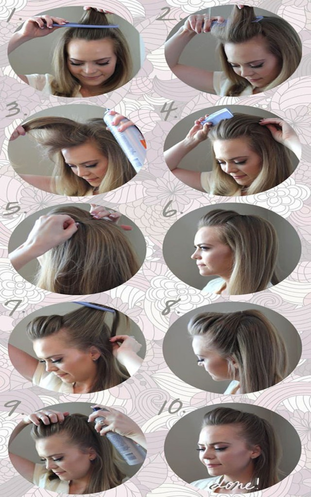 Pompadour Hairstyle Tutorial - Step by Step