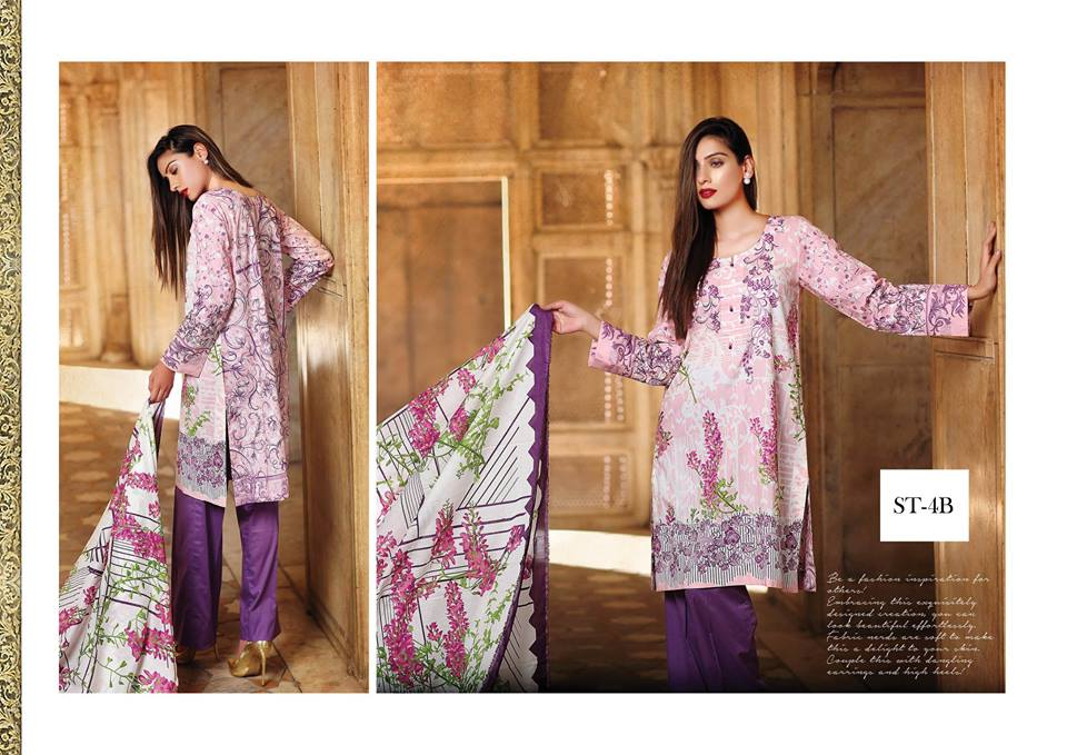 Light purple suit by shariq textiles for winter collection