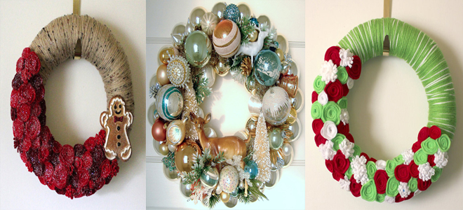40 Amazing DIY Christmas Wreath Ideas & Pictures