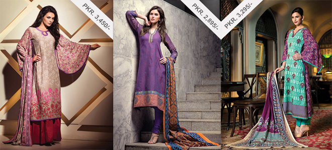 Alkaram Stylish Winter Hues Collection For Women 2013-2014