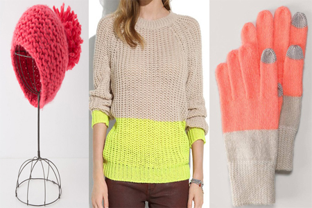 Winter Accessories - Knitted Hat, Sweater & Mittens