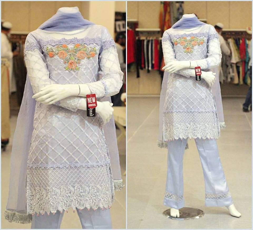 e4fea9634ea Zahra Ahmad New Party Wear Winter Dresses For Girls 2019