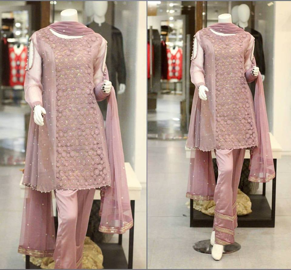 0e096160e Zahra Ahmad New Party Wear Winter Dresses For Girls 2018
