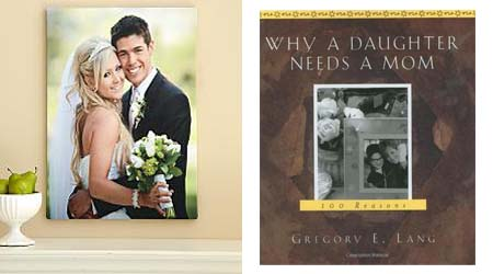 a photo frame & book for moms Christmas gift