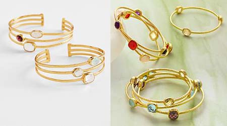 gemstone cuff & bangles for moms on christmas
