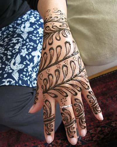 Hyderabadi Pakistani mehndi design
