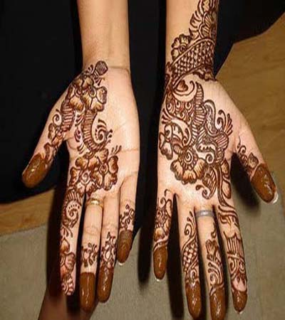 Indian Pakistani mehndi design for hands