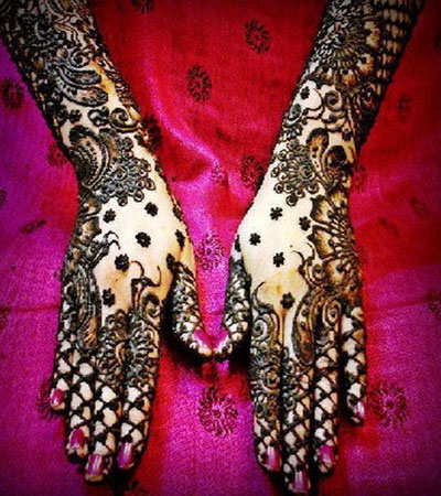 bridal net pattern indian mehndi design