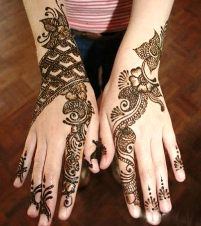 floral net pattern indian mehndi design
