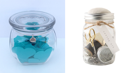 sister jar & mason jar sewing kit