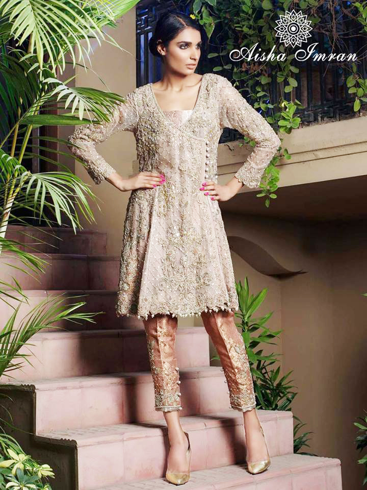 Angrakha Style Dress Designs For Women aisha-imran-latest-dress-for-wedding