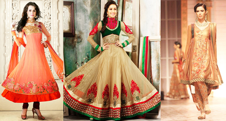 Latest Fashion Indian Anarkali Suits and Frocks 2018