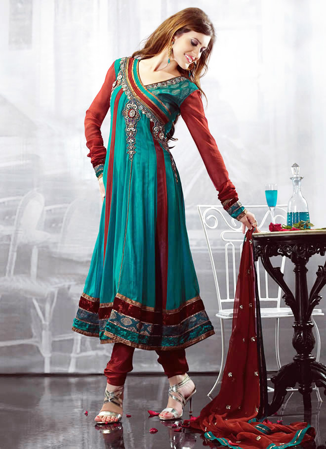 Angrakha Style party wear Dress For Women