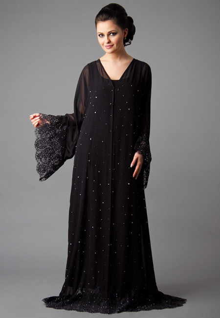 fancy abaya design for formal wear