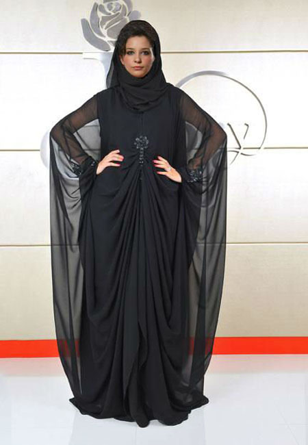 stylish abaya design with hijab style