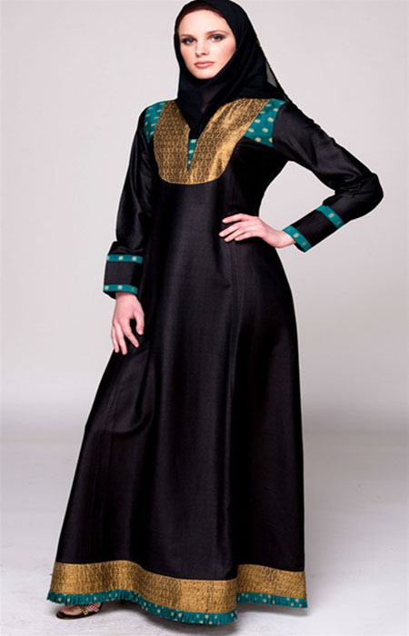 simple frock style abaya for girls