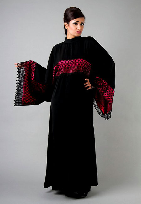 red lace abaya for modern girls