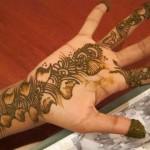 simple shaded mehndi design for hands