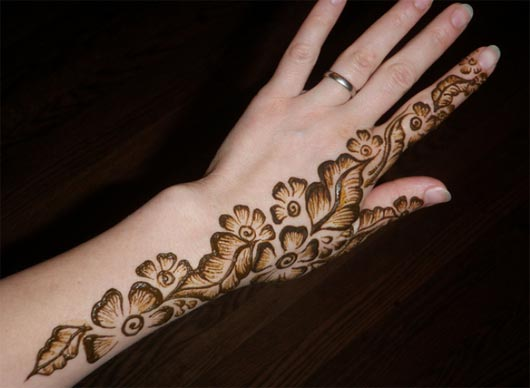easy bail shaded mehndi design for beginners