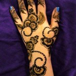 unique shaded mehndi design