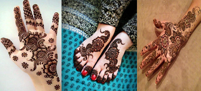 New Floral Mehndi Designs for Hands and Feet 2018