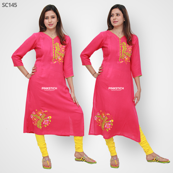 Pink Pinkstich Embroided Latest Summer Collection For Women 2017