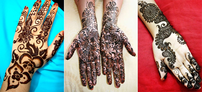 Latest Black Mehndi Designs For Hands 2019