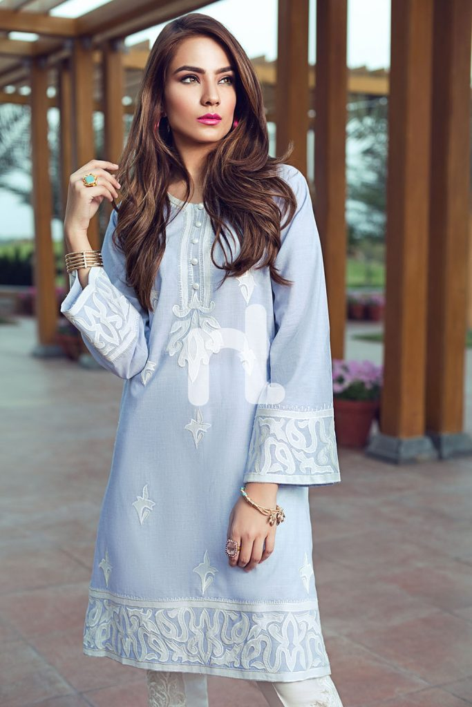 Grey Cotton Nishat Linen Luxury Formal 2017
