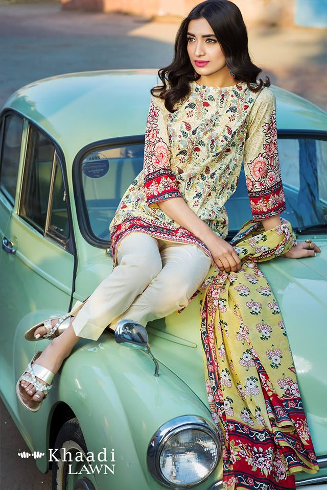 Lemon 3-piece Khaadi Collection 2017