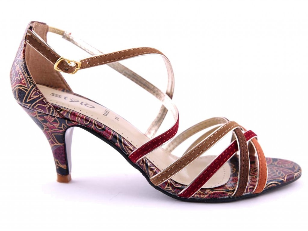 Brown Formal Heel By Stylo For Eid