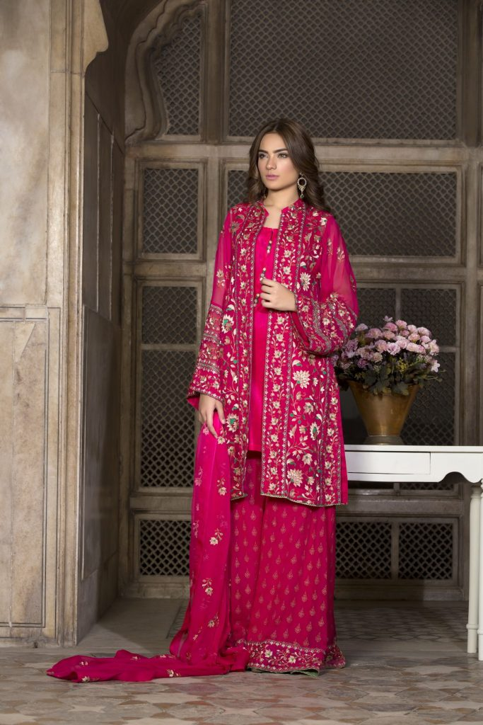 Shocking Pink Chiffon Eid Collection