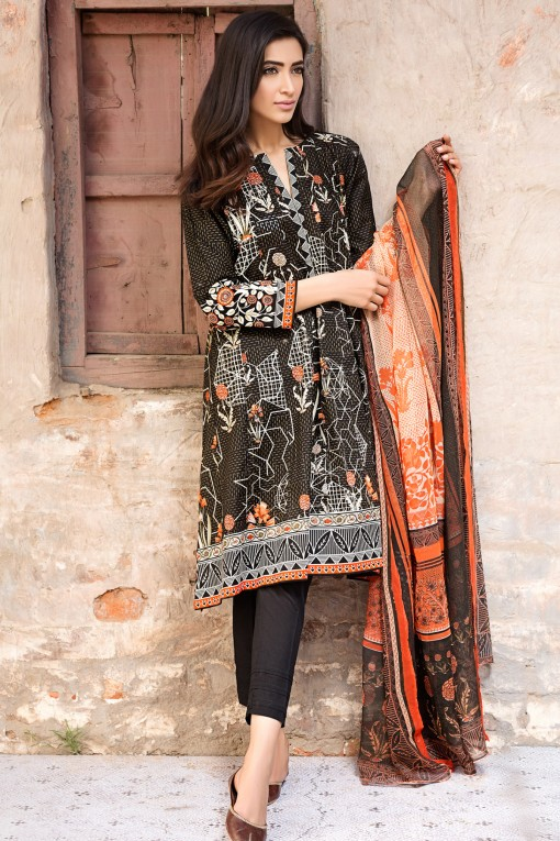 Elegant Black 3-piece Lawn