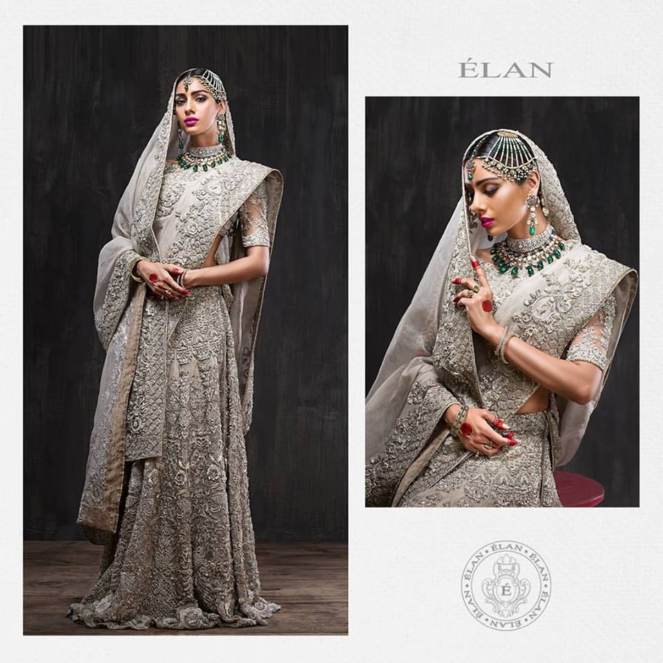 Elan Gray Full Fancy Bridal Lehenga