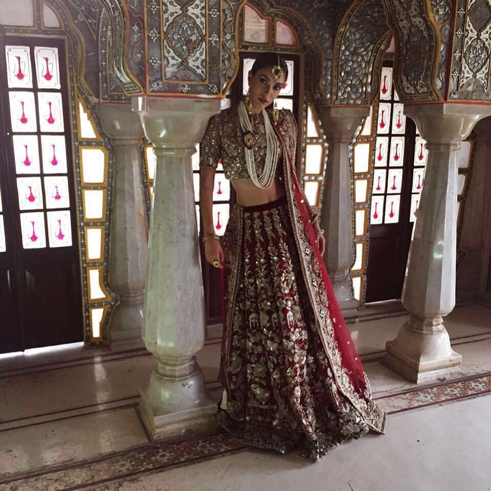 Barat Lehenga Choli Wedding Wear by Elan