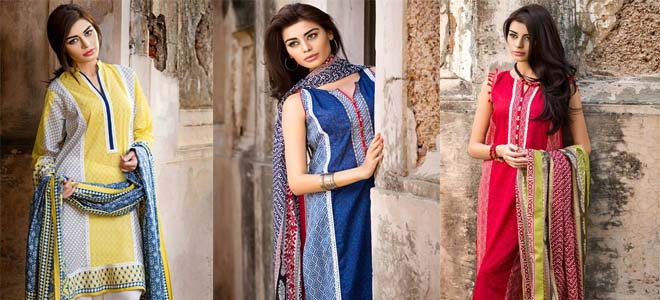 Khaadi 3-piece Lawn Collection For Eid 2017