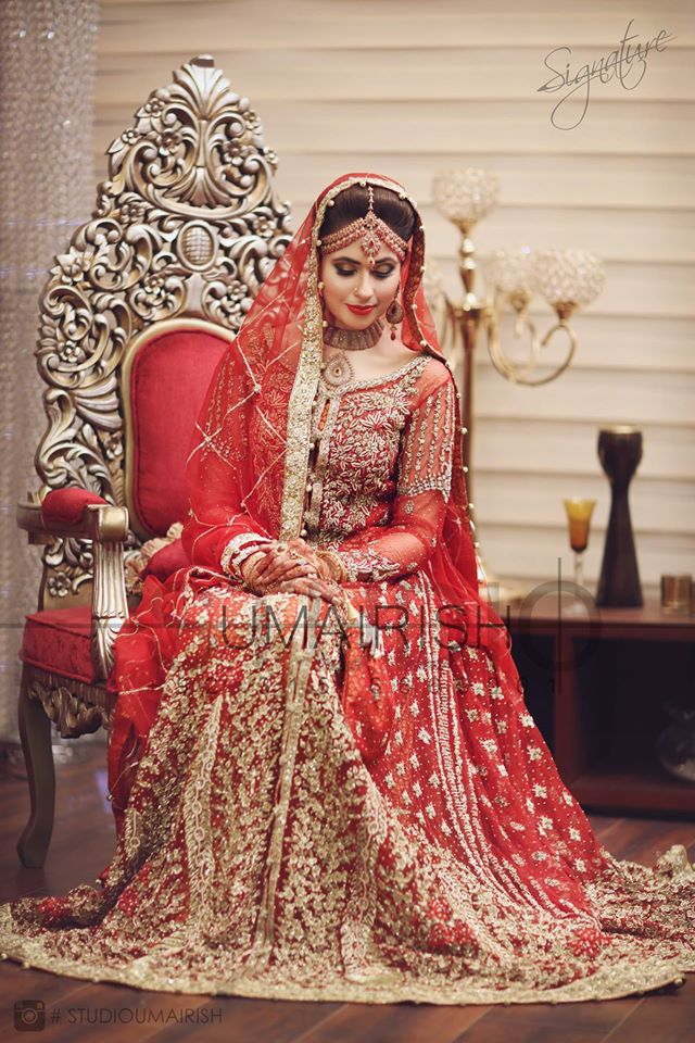 Full Red Bridal Dress for Wedding Day