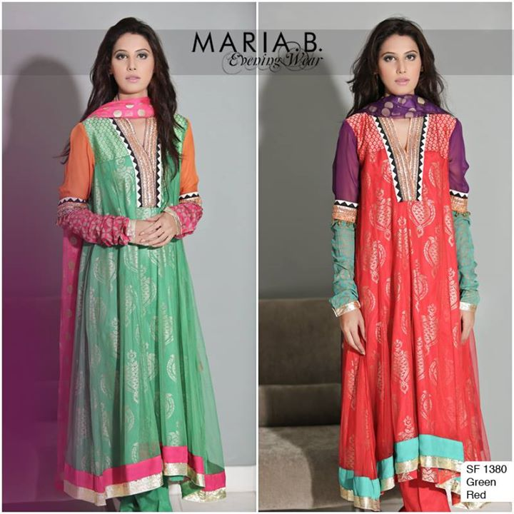 Traditional frock by maria b evening wear 2016
