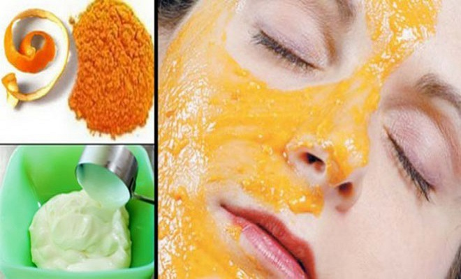 Dried Orange Skins and Yogurt Face Pack