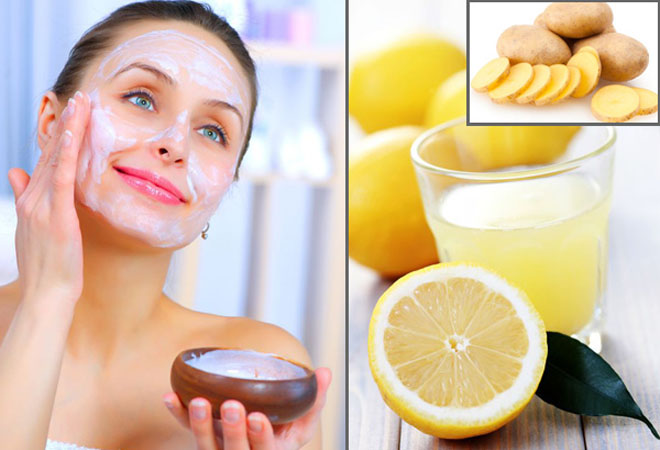 Potato & Lemon Juice Face Pack