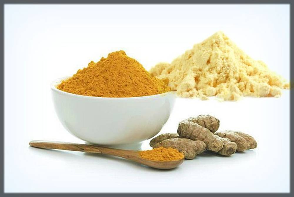gram flour and turmric mixture for skin