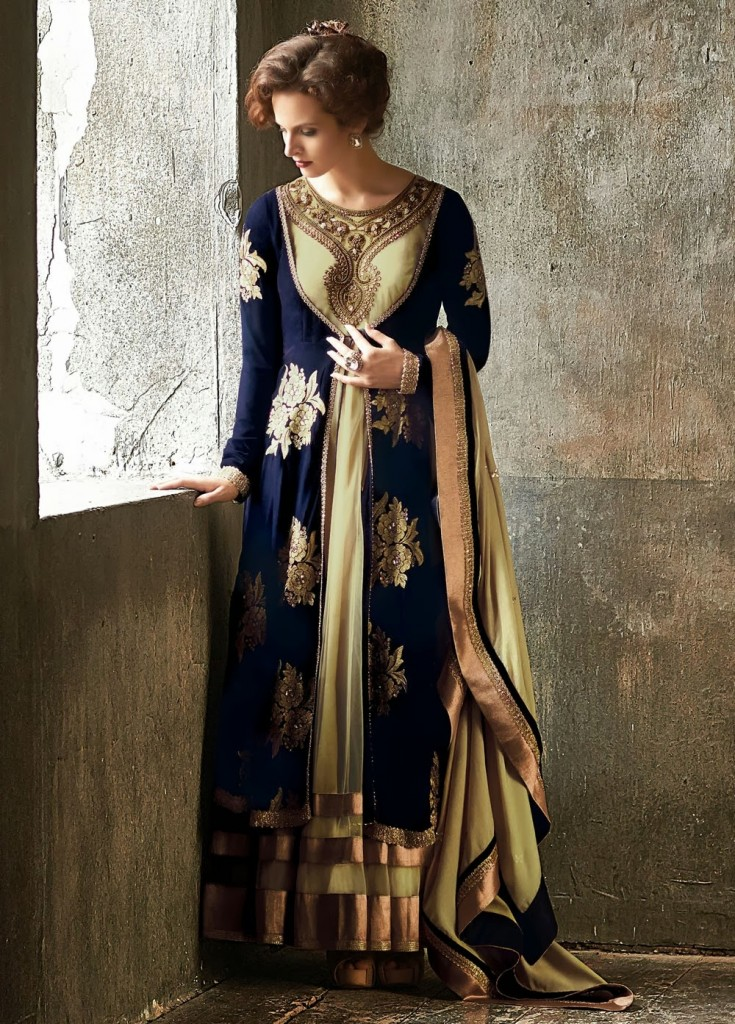 Royal blue gown over maxi for parties