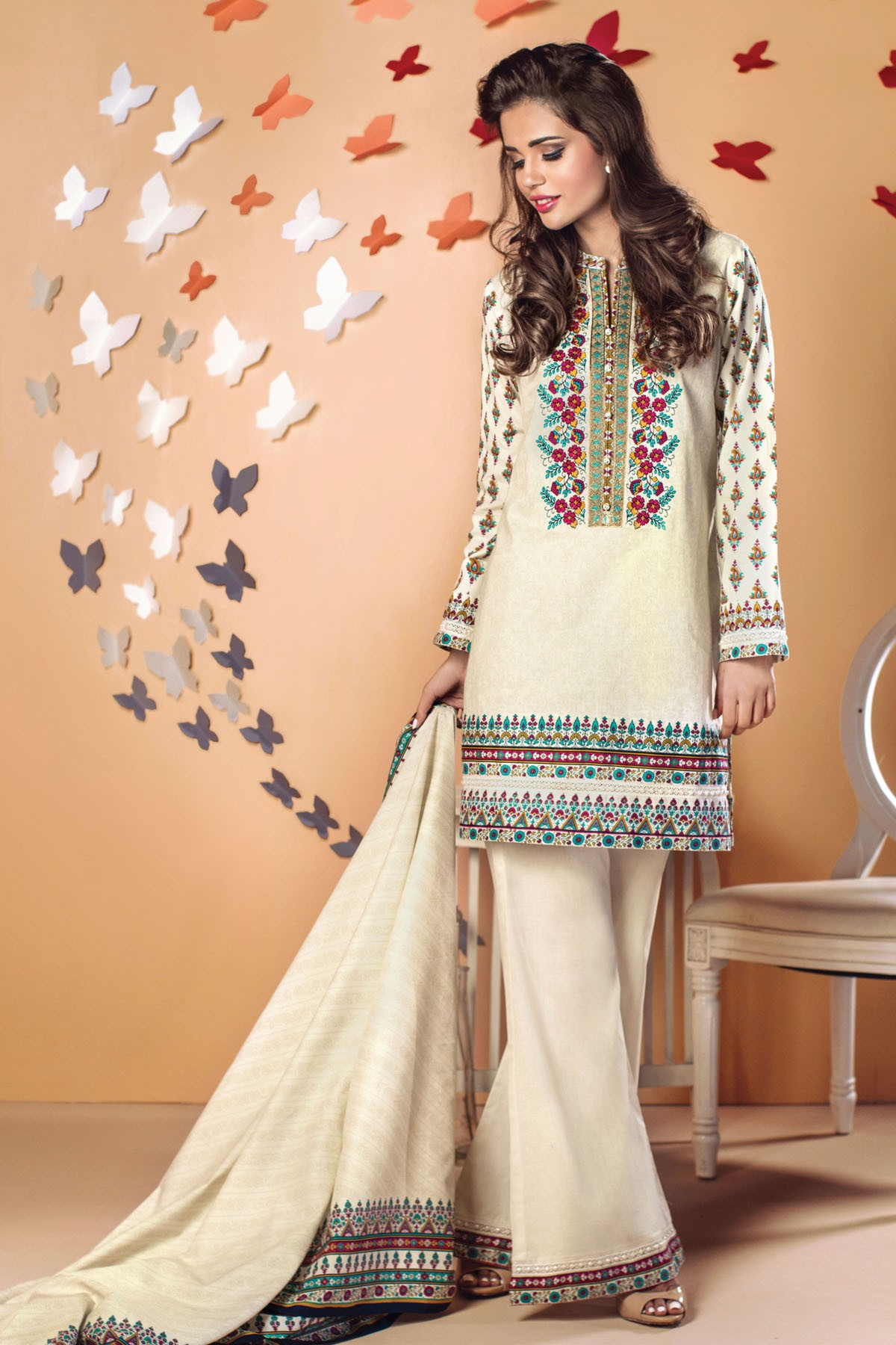 Alkaram Embroidered Eid Dress for Women