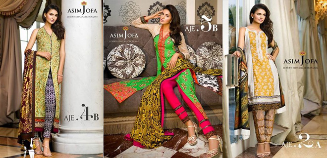 Asim Jofa Luxury Eid Dresses Collection For Women 2014-2015