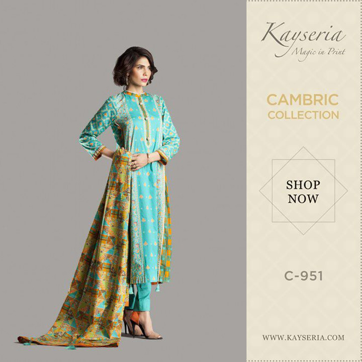 kayseria printed suit cambric collection for winters