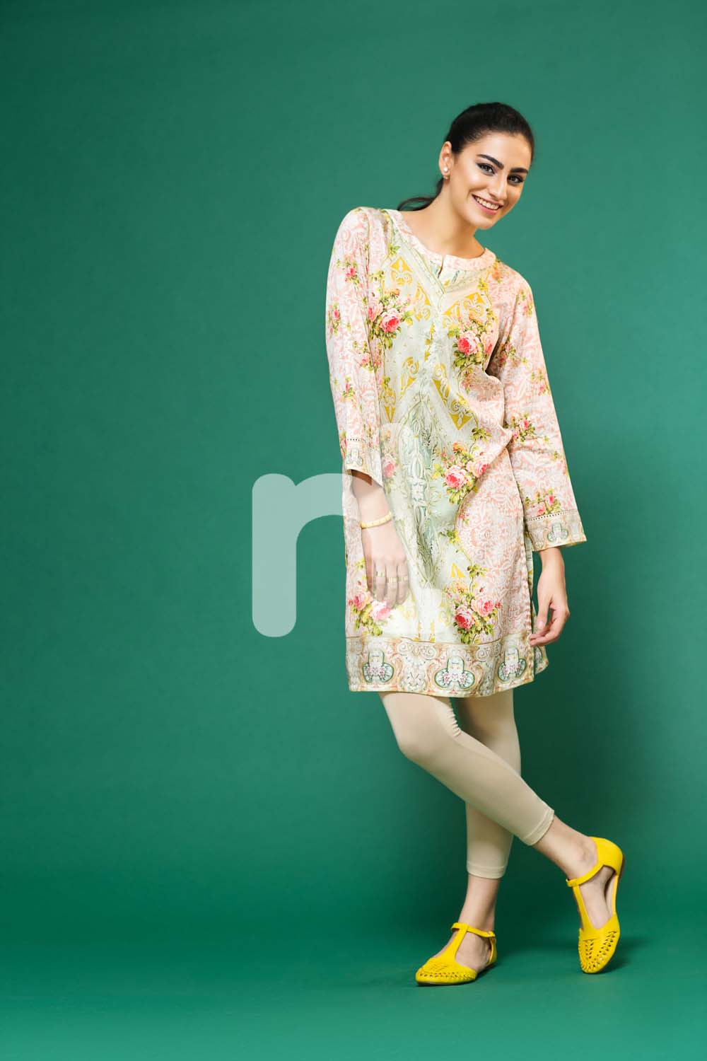 Pastel hues shirt by nishat pret wear for fall