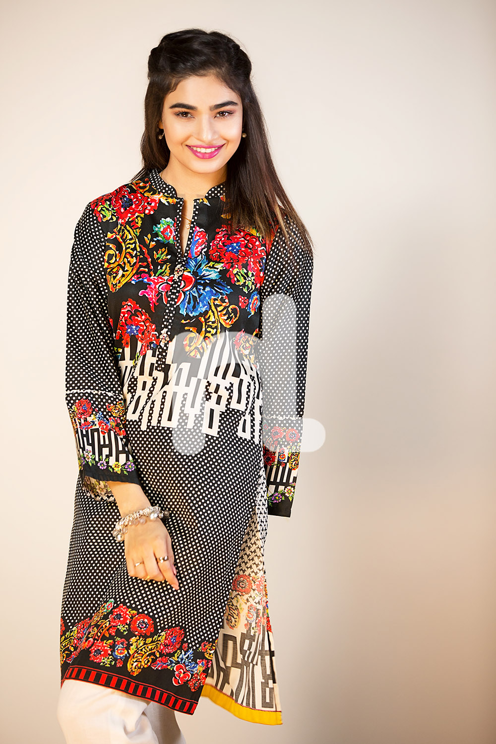 Jazzy black pret wear by nishat for fall