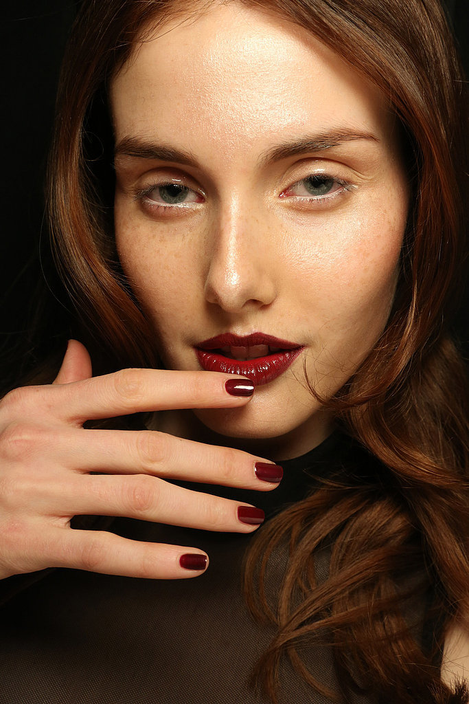 Blood red nail trends