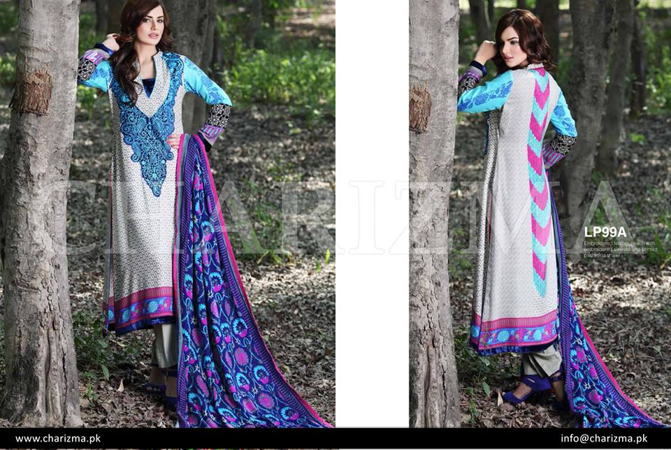 Royal blue dress by Charizma winter collection