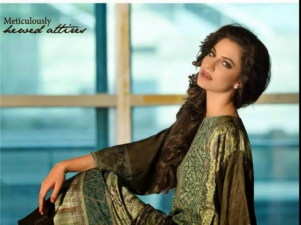 Gorgeous Sobia Nazir Elegant Party Wear Silk Dress Collection 2017